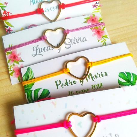 Pulseras detalle para invitadas a bodas
