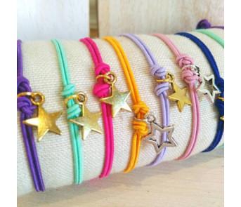 10 Pulseras Estrellas empaquetadas para regalo