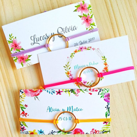 Pulseras para invitadas de bodas
