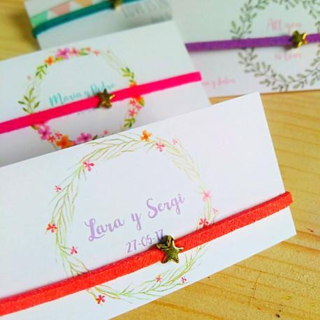 50 Pulseras Estrellas empaquetadas para regalo