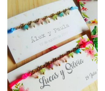 25 Pulseras Cristalitos empaquetadas para regalo