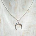 Collar Luna Invertida Plata