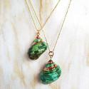 Collar Caracola Verde