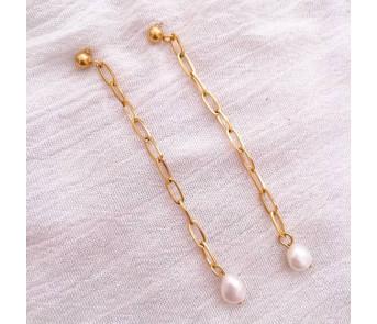 Pendientes Cadena Perla